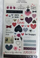 Love Actually PVC stickers Valentines heart Scrapbook diary Cardmaking art DIY