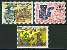 Viet Nam South 398-400, MI 476-479, MNH. Rice harvesting, 1971