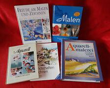 Kunst Bücher übers Malen / Zeichnen mit Bleistift, Kreide, Tusche, Öl, Acryl ...