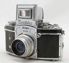 Ihagee Kine Exakta vintage 35mm SLR camera, lens E Ludwig V Meritar 1:2,9 F=50mm