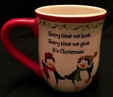 Ganz Christmas Mug Penguins Love Give Em12151