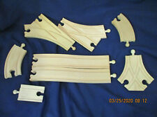 8 Pieces Tesco Style Wooden Toy Train Track Includes Curves Switches and Y Track