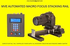 AUTOMATED MOTORIZED FOCUS STACKING MACRO RAIL MIN. STEP 1 MICRON 0,001 MM