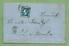 Romania: 1872, 10 Bani Blue on 1872 EFLS from Bucharest to Braila, FINE