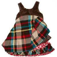 $150 NWT Eliane Et Lena Paris Red Plaid Atsuko Jumper girls size 4 5 6 10 y.old