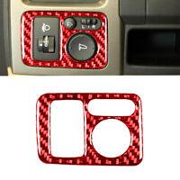 Red Carbon Fiber Rear Mirror Switch Panel Cover Trim For Honda CR-V CRV 2007-11