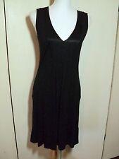 saba  black tunic dress 8  silk trim big pockets  stretchy