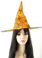 Orange Et Noir Spider Chapeau De Sorcière Déguisement Halloween Femmes Filles