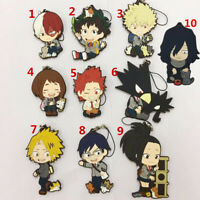 T1577  Anime Boku no hero academia Rubber Keychain Key Ring Straps Cosplay