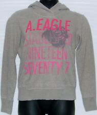 Womens American Eagle Pullover Hoodie Gray Pink. Long sleeve. Size L Rose