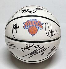 2016 NEW YORK KNICKS TEAM Signed Autographed Basketball COA! CARMELO ANTHONY++