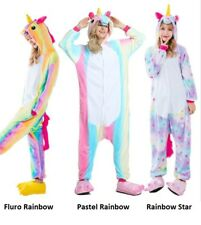 Cute Cartoon Unicorn One piece Sleepwear Animal Costume Cosplay Pyjamas Slippers