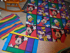 Color block twin Mickey and Friends sheet set flat fitted and single pillowcase