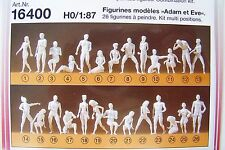 NEW ! HO 1:87 SCALE Preiser TWENTY-SIX (26) Adam and Eve Nude Figures KIT 16400