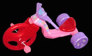 "The Original Big Wheel/Mighty Wheels Purple 16"" Girls Racer with Barbie Decals"