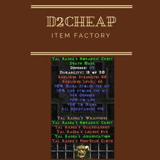 Tal Rasha's Horadic Crest Tal Mask - Diablo 2 Europe / East / West Ladder & NON