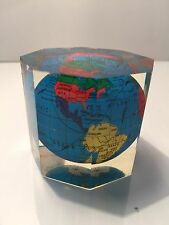 NEW IN BOX VINTAGE WORLD GLOBE PAPER WEIGHT