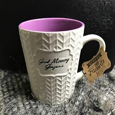 Large Coffee Mug. Good Morning Gorgeous. Roscher. White With Purple Inside. New.