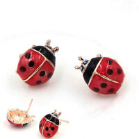 Cute Insert Earrings Exquisite Paint Stud Earrings Red Oil Ladybug Ear Studs HCU