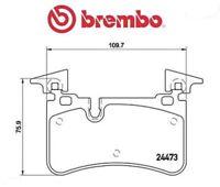 P50113 Kit pastiglie freno, Freno a disco (MARCA-BREMBO)