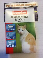 BEAPHAR MULTI WORMER TABLETS FOR CATS (kills Roundworms & Tapeworms)