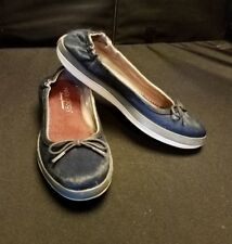 NWOB~ Relaxology TOMMY BAHAMA Caylee NAVY BLUE Leather FUR Slip On Shoes Sz 6B