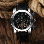 JARAGAR Tourbillon Calendar Automatic Mechanical Genuine Leather Men Wrist Watch