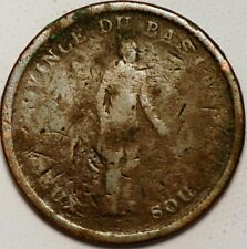 1/2 Penny / 1 Sou 1837 BANK OF MONTREAL Canada