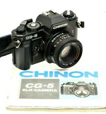 Chinon CG-5 & 50mm Lens 35mm SLR Camera - Aperture Priority, Manual Student