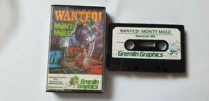 WANTED MONTY MOLE - GREMLIN GRAPHICS 1984 - SINCLAIR SPECTRUM 48K GAME - VINTAGE