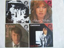 4 x AMIGA QUARTETT Single: P.Maffay, R. Kaiser, J. Werding, H.Carpendale