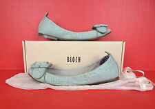 Bloch Fashion Flats Ballet Ballerina Mesh Leather Shoe 39.5 9.5 Run Smaller Gray