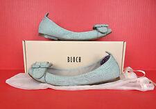 Bloch Fashion Flats Ballet Ballerina Mesh Leather Shoe 39.5 9.5 Run Smaller Gray