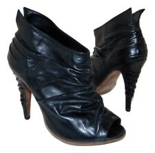 Sexy ALLSAINTS SPITALFIELDS Pleated Glove Leather Booties sz 37 6.5 - 7
