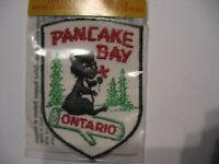 Vintage Pancake Bay Ontario Souvenir Canada  Patch Sew  Bear