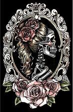 TooFast SKULL CAMEO Tattoo BATCAVE Roses Poster / Bild Rockabilly