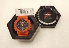 Casio G-Shock Orange Resin Analog/Digital Mens Watch - GA-100L-4ACR