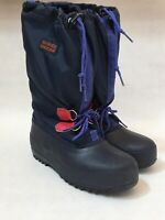 Sorel Women's Blue Felt Lined Rubber Snow Rain Trail Winter Boots Size 6