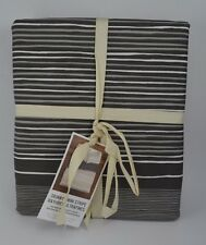 West Elm Skinny Mini Stripe Duvet Cover Full Queen Feathered Grey #12