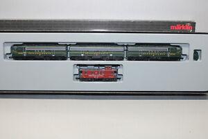 Märklin 88321 Mini Club Diesel F7 Pennsylvania With Caboose Car Z Gauge Boxed