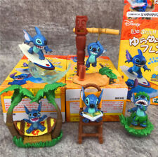 1 Box of 5 Disney Stitch Scenes Surfing Hammock Dance Read Figures Figurines Toy