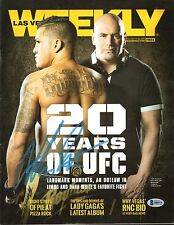 Anthony Pettis Signed 13 Las Vegas Weekly Magazine BAS Beckett COA UFC Autograph