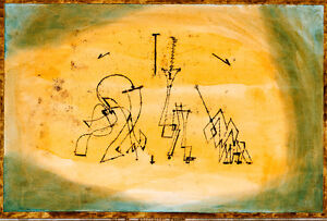 Abstract Trio by Paul Klee 1923 60cm x 40.6cm High Quality Art Print