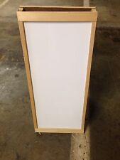 "Sidewalk Announcement White Board Easel 13"" X 30"" Hardwood Natural Frame"