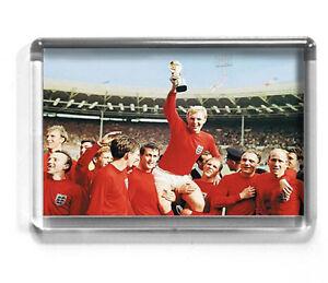 ENGLAND 1966  fridge magnet WORLD CUP, EUROS, ST GEORGE, BOBBY MOORE