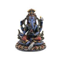 Statua Di Ganesh Elefante IN Resina Dipinto Alla Mano Portafortuna -2470