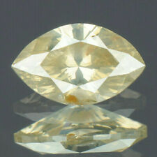 0.37 Carats NATURAL Greyish Yellow DIAMOND LOOSE for Setting Marquise with CERT