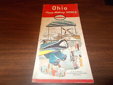 1964 Humble OHIO Vintage Road Map /Wright-Patterson Air Force Museum on cover