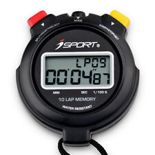 Digital Pro Two Row 10 Laps Memory Chronograph Running Stopwatch Sports Timer