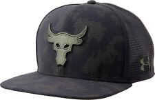 Under Armour Mens UA x Project Rock Mesh Back SuperVent Snapback Cap Flat Hat